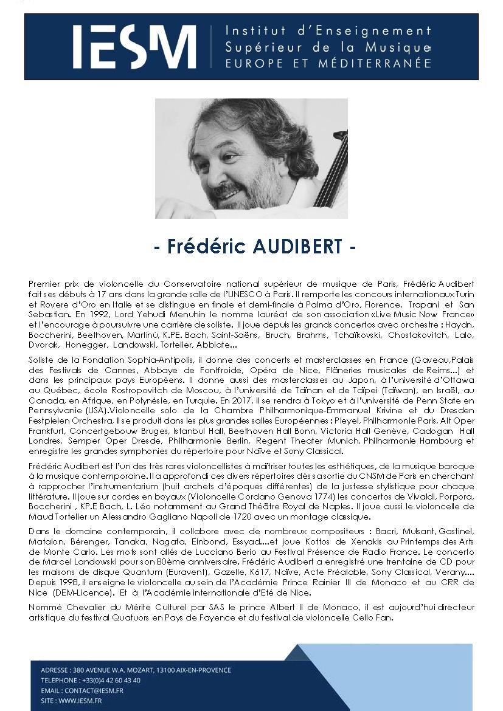 AUDIB FREDERICAUDIBERT