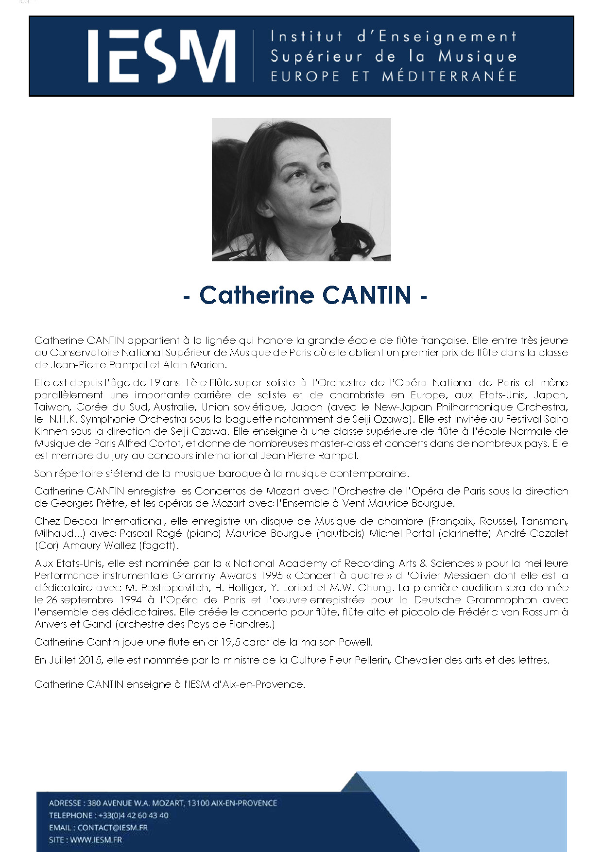CANTI CATHERINECANTIN