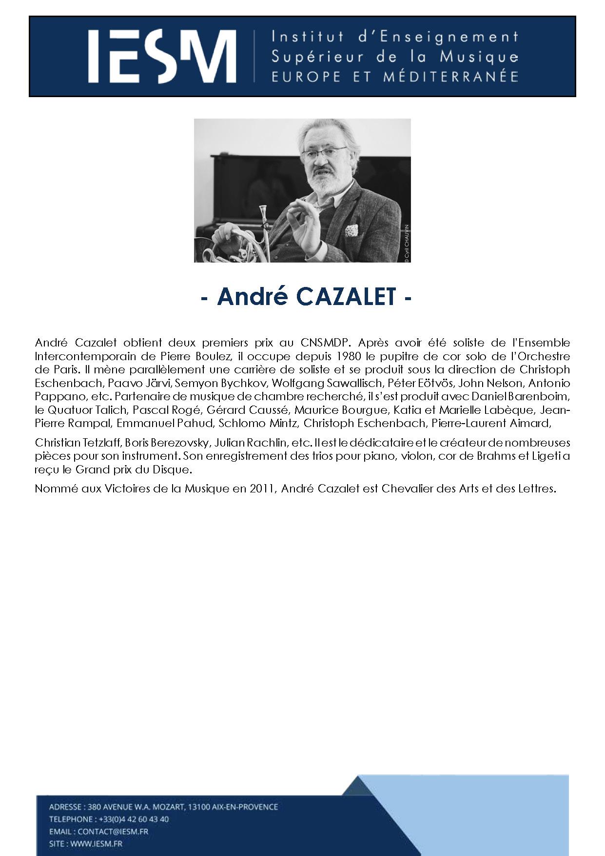 CAZAL ANDRECAZALET