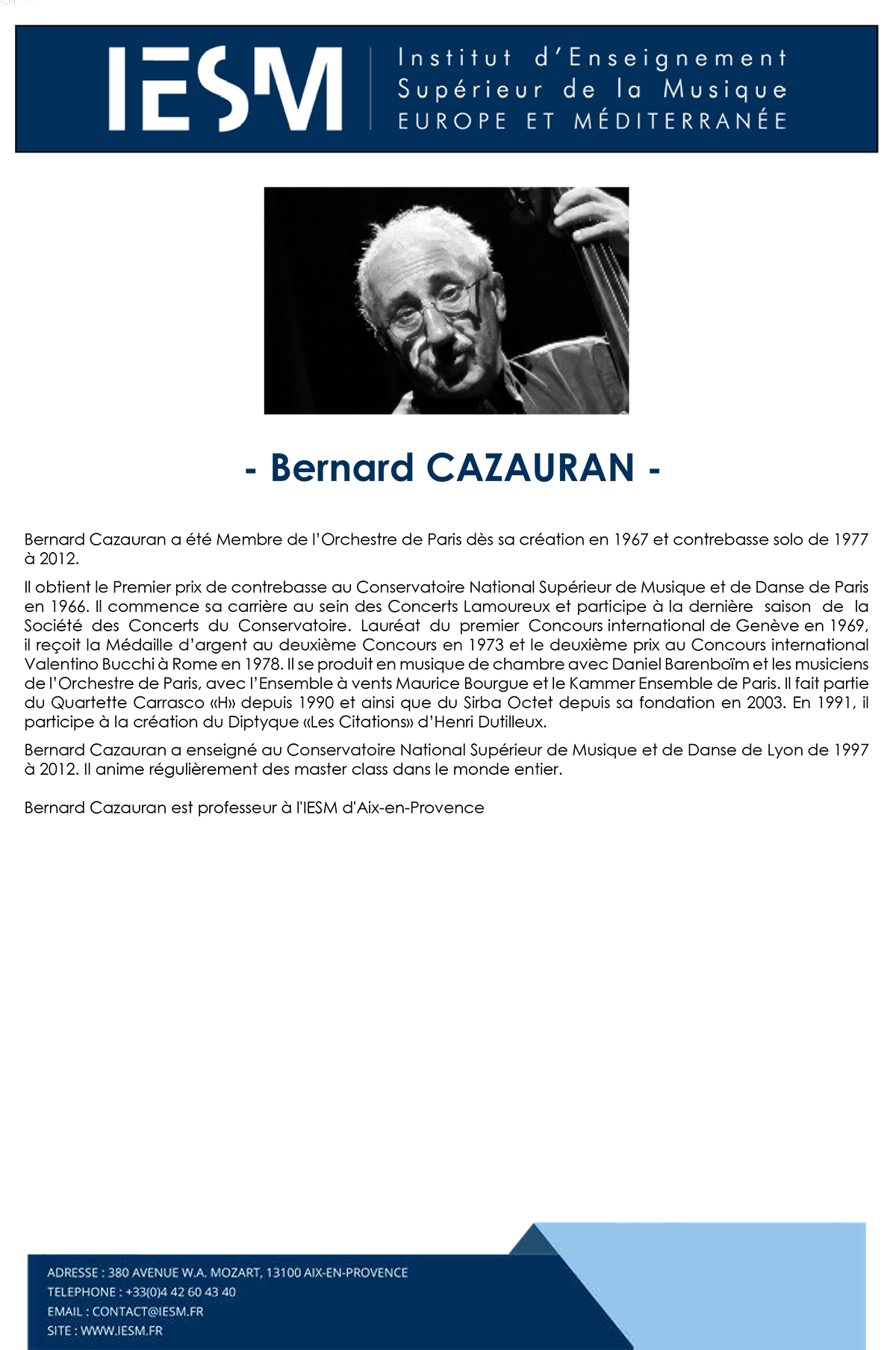 CAZAU BERNARDCAZAURAN