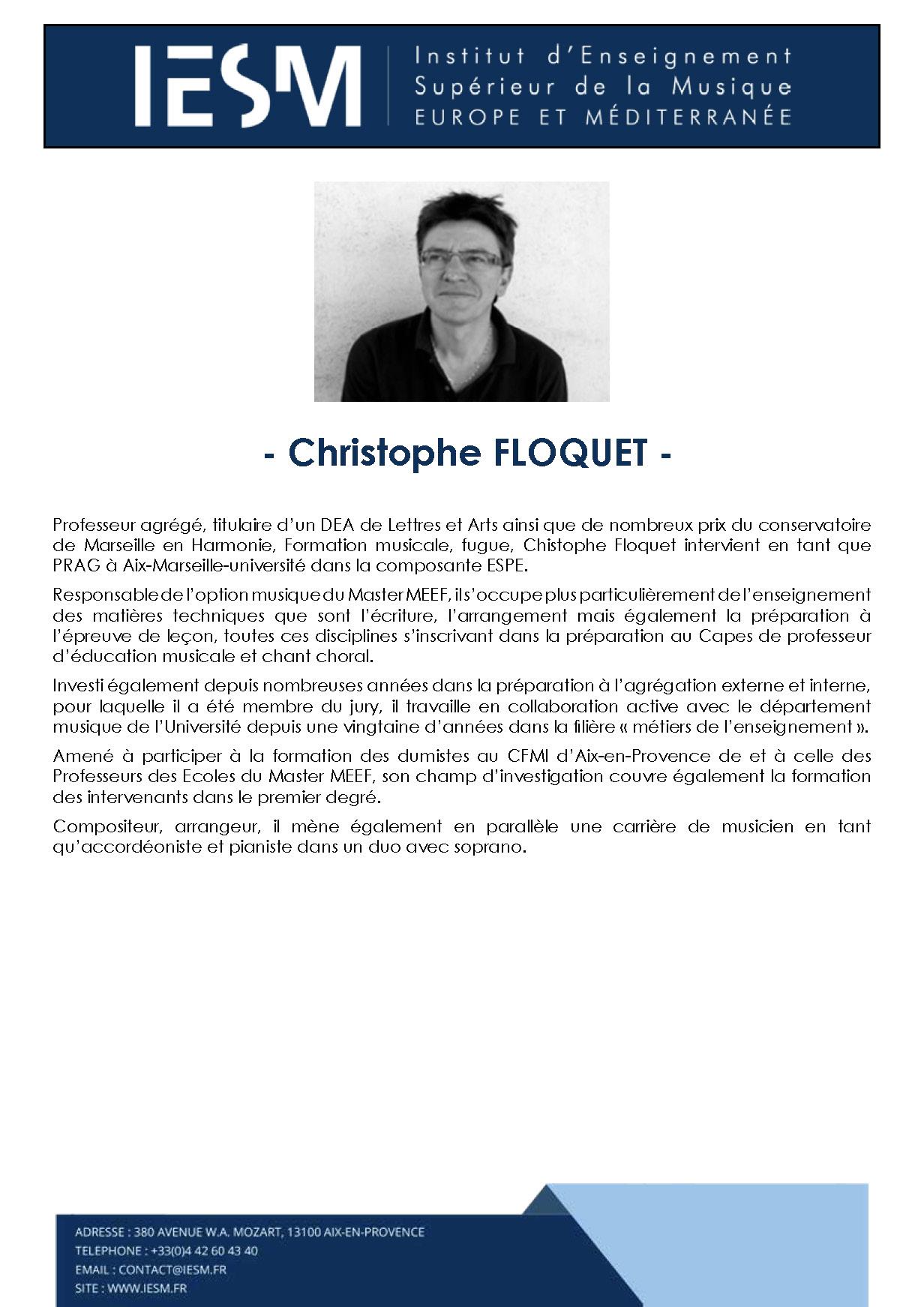 FLOQU CHRISTOPHEFLOQUET