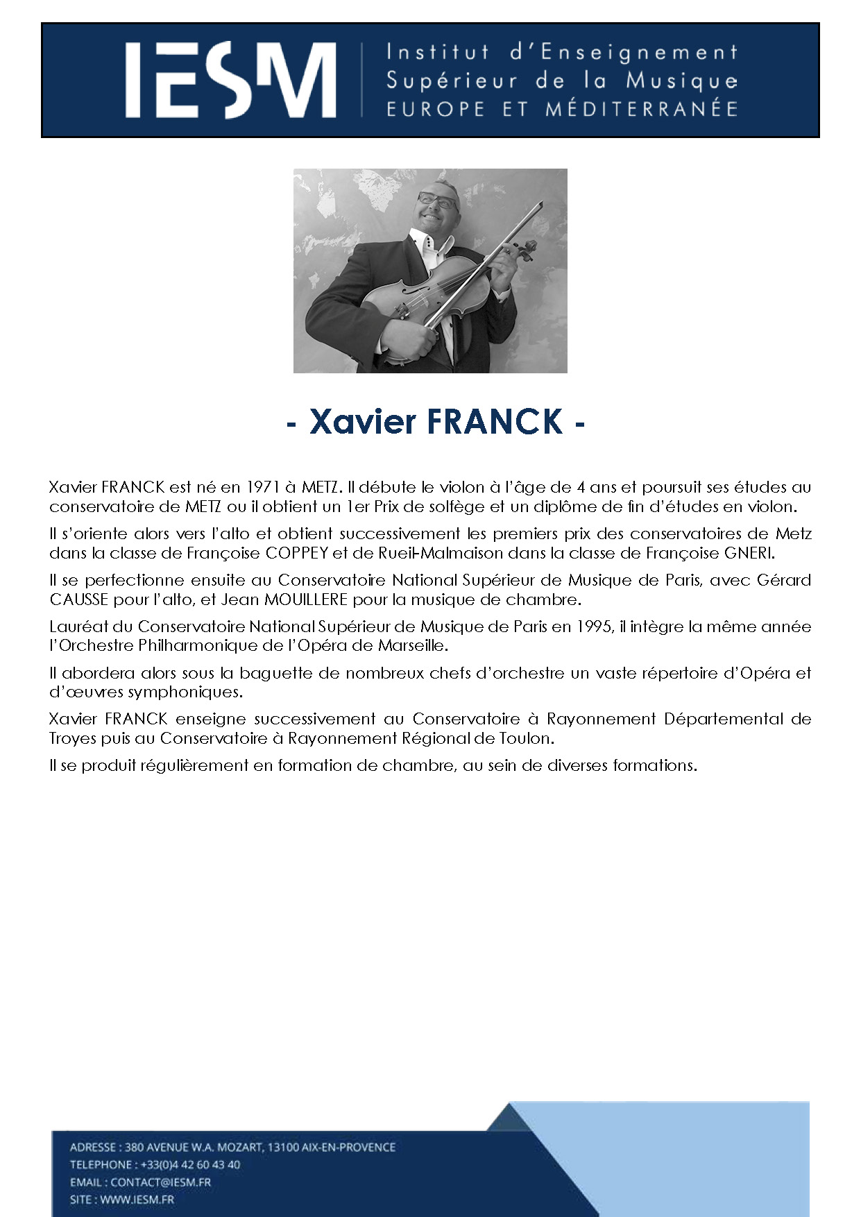 FRANC XAVIERFRANCK