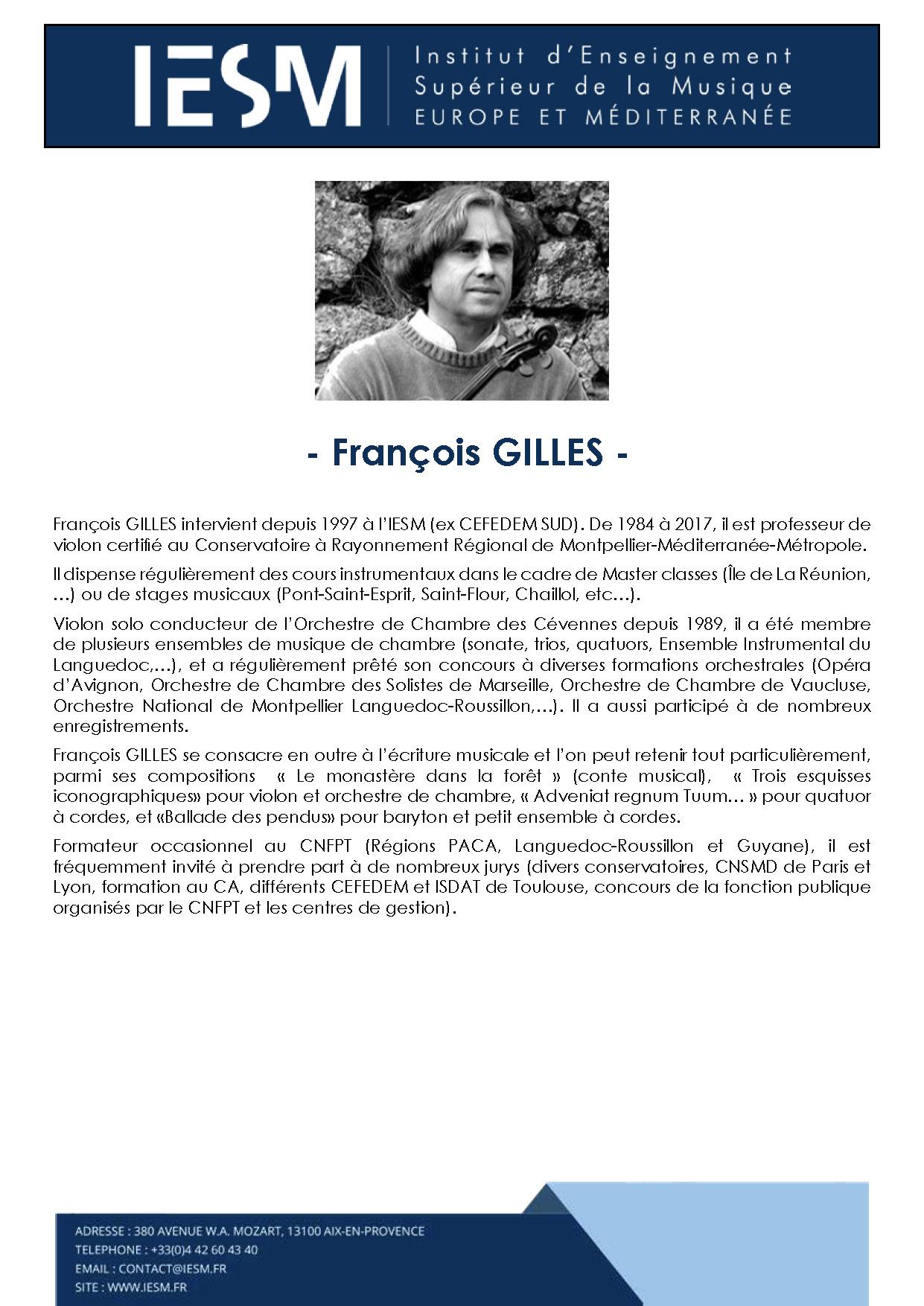 GILLE FRANCOISGILLES